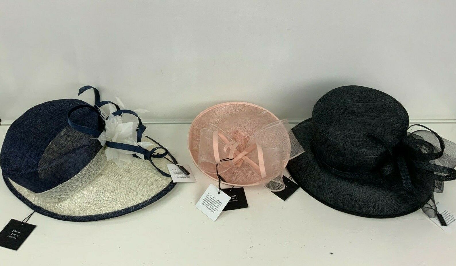 3 x John Lewis & Partners Special Occasion Formal Hats Job Lot New