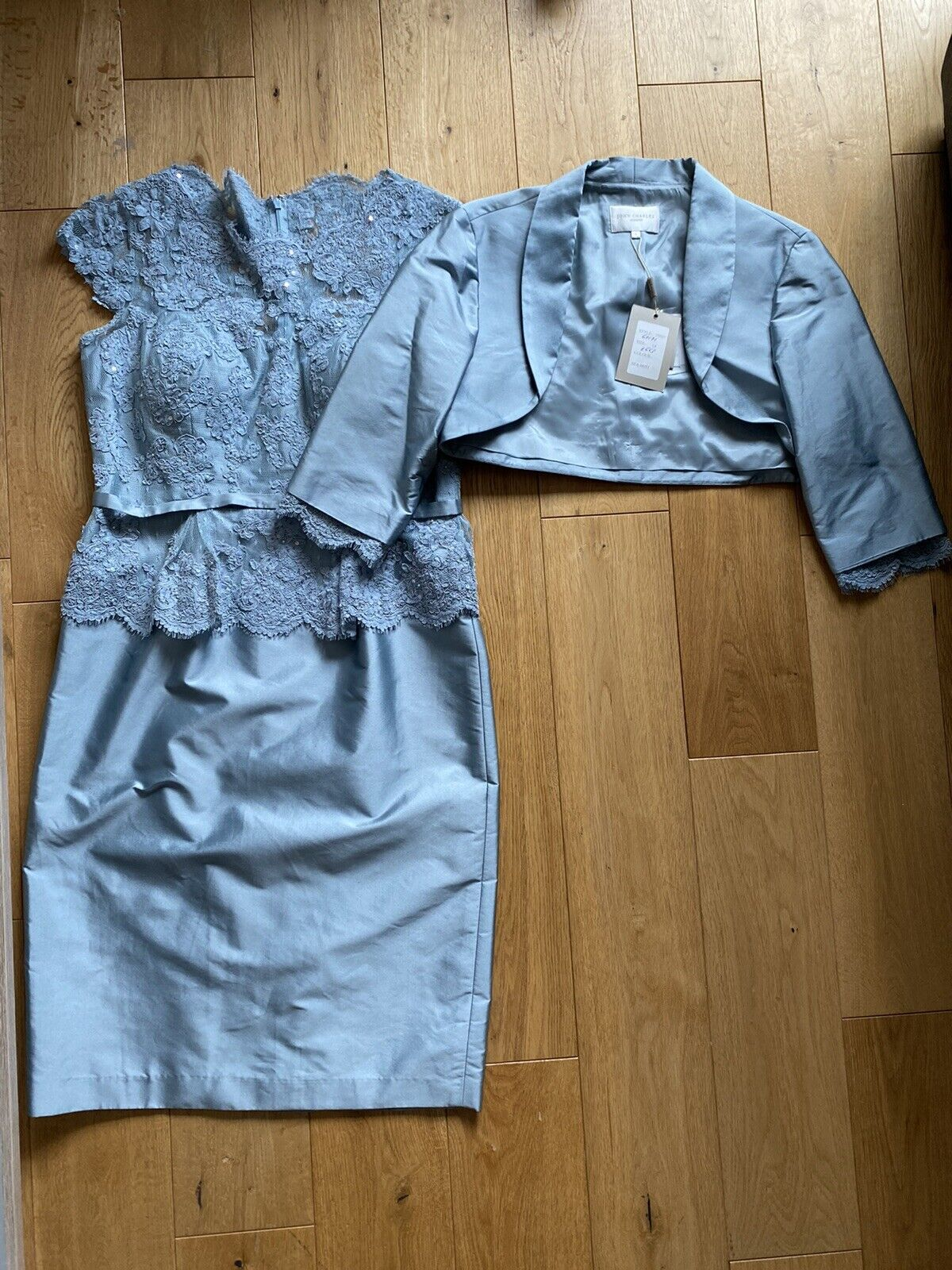 John Charles Mother of the Bride Outfit in blue UK Size 14 (Never worn)
