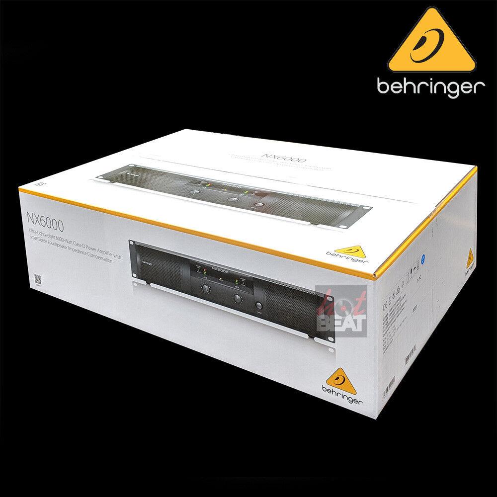 Behringer NX6000 Ultra Ultra Ultra Ligero, 6000W estéreo de clase D amplificador de potencia 205b3b
