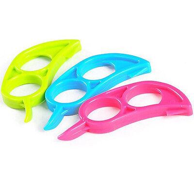 HOT 3PCS Easy Opener Lemon Orange Peeler Slicer Cutter Plastic Kitchen Tools
