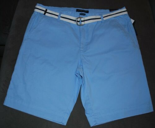 Men/'s New US POLO ASSN HARTFORD Hiking Shorts with Belt Blue Khaki Sizes 38 42
