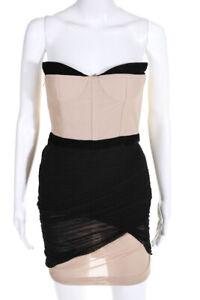 alexander wang womens strapless corset mesh dress black