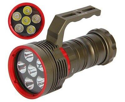 SKYRAY DX6 10000LM 6X CREE XM-L2 LED 200M Diving Scuba 18650 Flashlight Torch