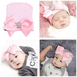 Bébé Nouveau-né Chapeau Bonnet Crochet Tricot Nœud Photographie ... 604350c836c