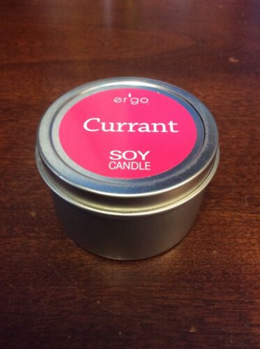 Ergo Soy Candle Currant Scented 2 oz Travel Tin