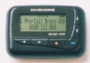Daviscomm-Bravo-800-Alpha-Numeric-Pager-929-932-Mhz-Flex-American-Messaging-Spok