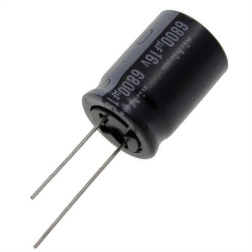 10x Elko Condensateur radial 6800µf 16v 105 ° C; urz1c682mhh1ca; 6800uf