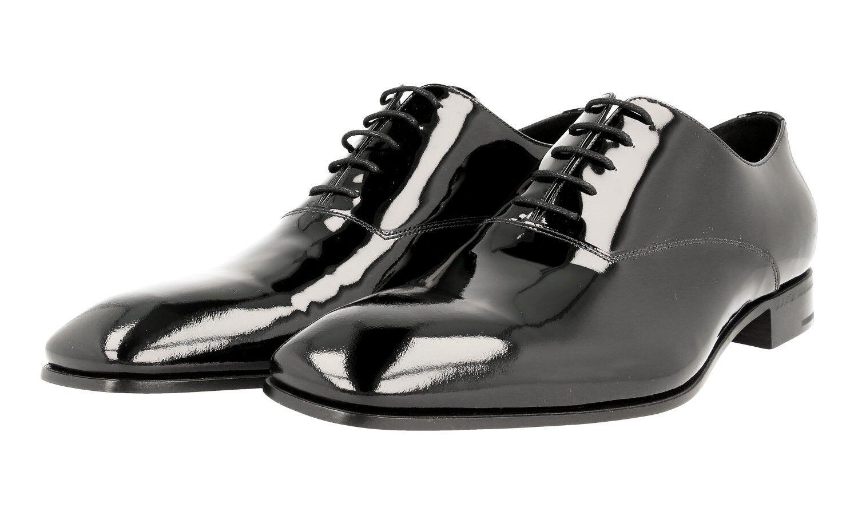 43a443a3 LUXURY PRADA Patente Zapatos 2EA116 Negro Nuevo 45,5 11 45 nbjsqb8514- Zapatos de vestir