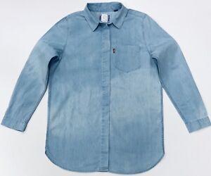 Denim In Acid Length Shirt Levi's Western Wash Longer Women's waTqaYIn7