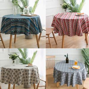 Fashion Round Geometric Print Tablecloth Evening Party Dining Table Cloth Decor Ebay