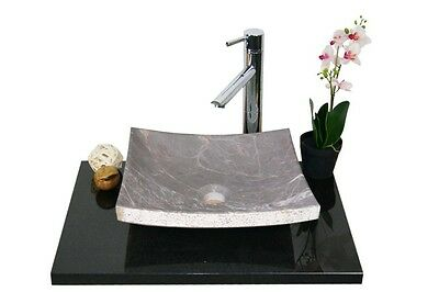 Waschbecken aus Naturstein, Granit, Model Dublin 35, Jing. Grey, auch Gäste WC