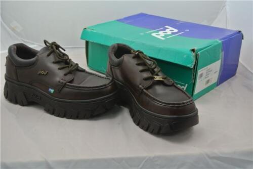 6 lisse lacée brune crampons travail taille Uk à Chaussures semelle de cuir qvTx8xX