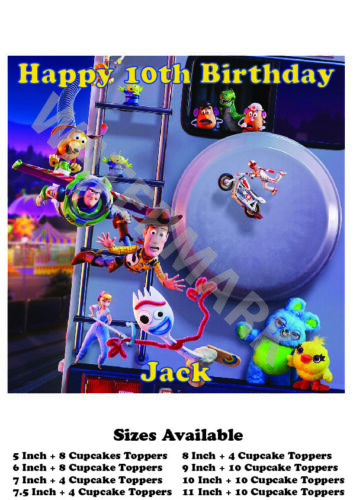 Toy Story Personalised Edible Wafer Icing Cake Topper Costco Size upto A3