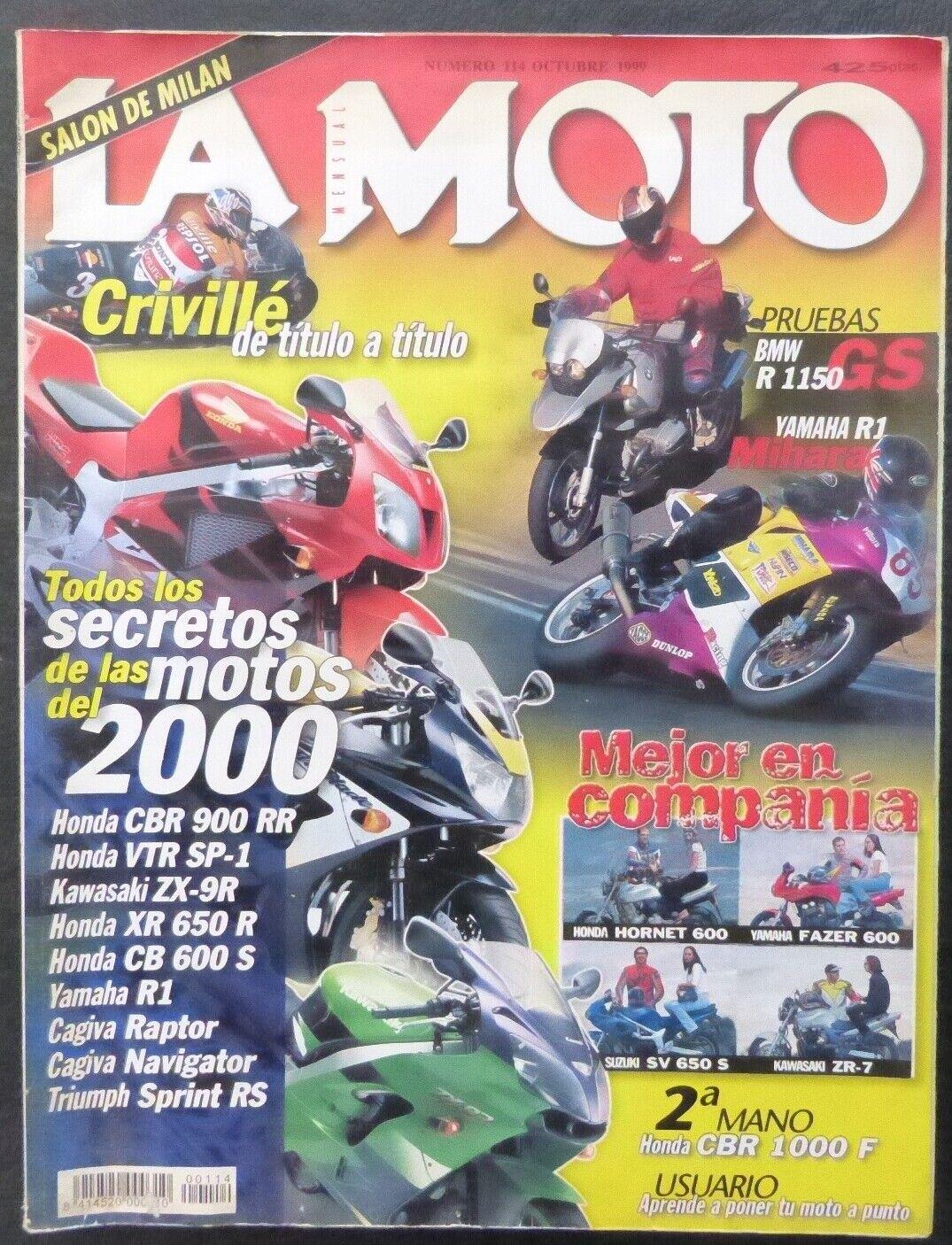 REVISTA La Moto,AÑO 1999,NUMERO 114,Todos los secretos de las 200 mejores motos