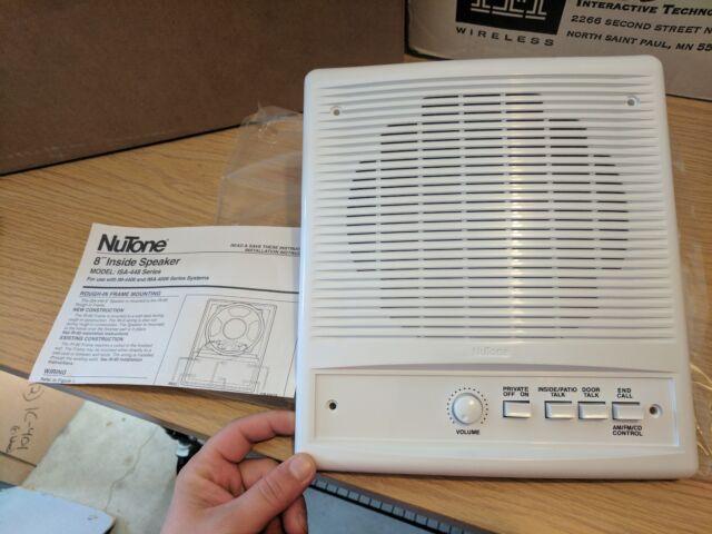 "NEW NUTONE IS-448WH RADIO INTERCOM 8/"" INSIDE SPEAKER"