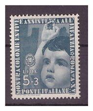 REGNO 1937 - COLONIE ESTIVE  Lire 5 + 3   NUOVO **