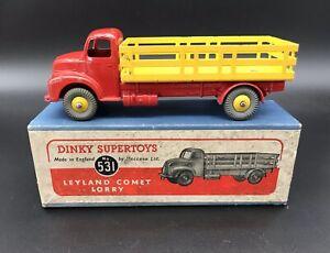 Dinky 531 Leyland Comet Lorry - Très bon, excellent emballage d'origine