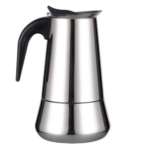 Klassischer Kaffeemaschine  Espressokocher Espressomaschine 2Tasse mit Griff