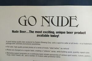 Go-Nude-Nude-Beer-brochure-and-or-poster-great-for-your-man-cave