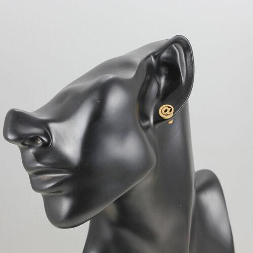316 L acier inoxydable Fashion 18K plaqué or Femmes Dame Boucles d/'Oreille Vis Arrière