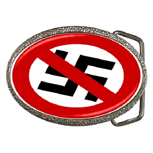ANTI NAZI SWASTIKA ANTI FASCIST BELT BUCKLE GREAT GIFT ITEM