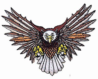 6 EMBROIDERED FLYING EAGLE PATCH P-381 iron on patches eagles biker iron sew on