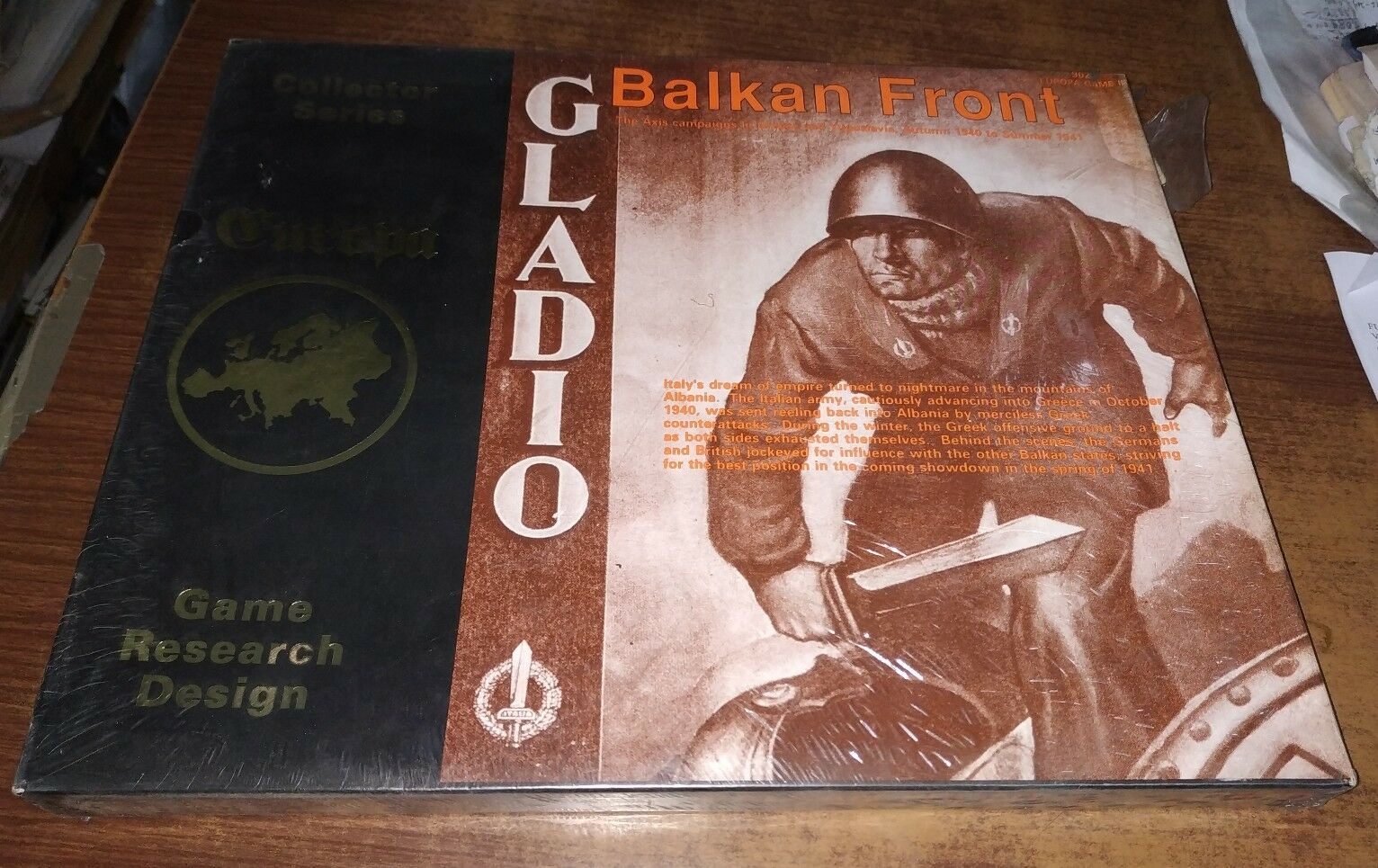 Balkan Front Gladio 902 Europa Game III Collector Series Game Research Design