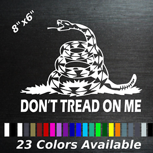 Dont tread on me gadsden flag window sticker decal freedom liberty rattle snake