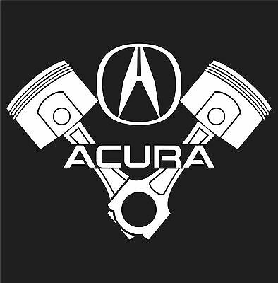 Acura piston logo sticker vinyl decal jdm sport tsx tl rlx mdx honda integra