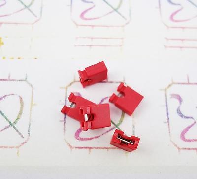 100Pcs Red 2.54mm Jumper Cap mini Jumper Short Circuit Cap Connection