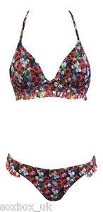 Womens-Ex-TOPSHOP-Halterneck-Top-Bikini-UK-SELLER-POPPY