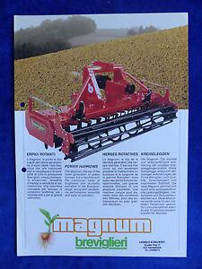 Breviglieri Italie-kreiselegge Magnum-prospectus Brochure (0713-afficher Le Titre D'origine Facile à Lubrifier