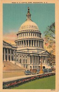 Vintage United States Capitol Dome Building  Linen Postcard 1941