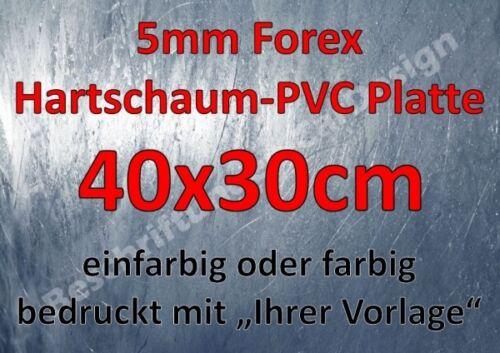 """5mm Forex Hartschaumplatte ca 40x30cm bedruckt mit /""""Ihrer Vorlage/"""""""