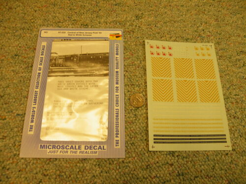 Microscale decals 87-232 Central New Jersey post 65 red white scheme  K101