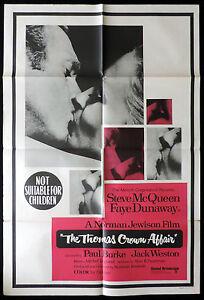 THE-THOMAS-CROWN-AFFAIR-Vintage-Australian-One-Sheet-Movie-poster-Steve-McQueen