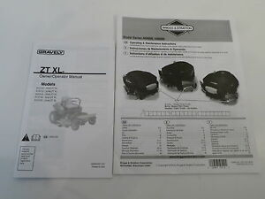 gravely zt xl   briggs   stratton operator owners manual for lawn mower tractor ebay
