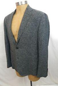 BILLY-REID-Gray-White-Flecked-Light-Tweed-Jacket-3-Roll-44R-Sleeves-Long