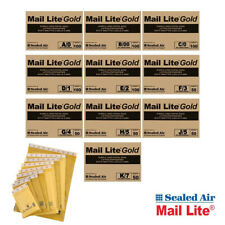 Mail Lite Bubble Wrap Padded Envelopes Postage Mailing Bags Small Large Gold