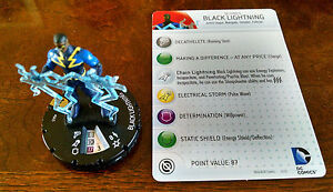 Heroclix Batman set Black Lightning #045 Super Rare figure w//card!