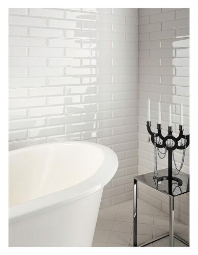 London Xl Bevelled Gloss White Metro Bathroom Kitchen Brick Wall Tiles 10 X 30cm Sfhs Org