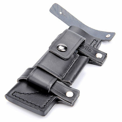 """New Straight Leather Belt Sheath For 7"""" Fixed Knife W/Pouch Knives Sheath Bag"""