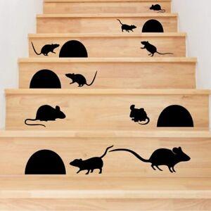 Wandtattoo Mauschen Tiere Deko Wandaufkleber Treppenhaus Stufen Farbauswahl Ebay