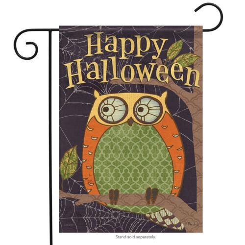 """Halloween Owl Garden Flag Decorative Double Sided Carson 13/"""" x 18/"""""""