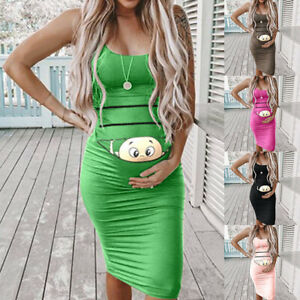 ND-MATERNITY-WOMEN-CARTOON-BABY-PRINT-SLIM-SLEEVELESS-PREGNANCY-MIDI-DRESS-S
