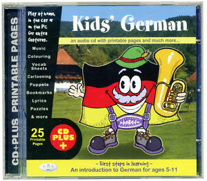 KIDS-039-GERMAN-CD-audio-amp-rom-First-Language-learning-for-age-5-NEW-amp-WRAPPED