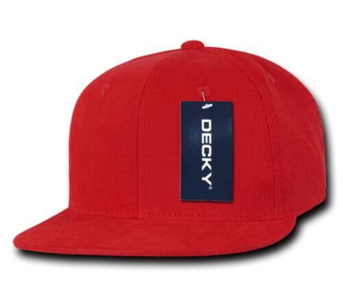 DECKY Corduroy Snapback Retro 6 Panel Constructed Baseball Hats Caps