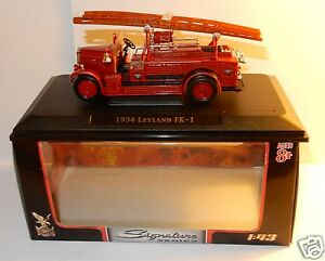 YATMING-YAT-MING-SIGNATURE-CAMION-1934-LEYLAND-FK-1-POMPIERS-FIRE-TRUCK-1-43-BOX