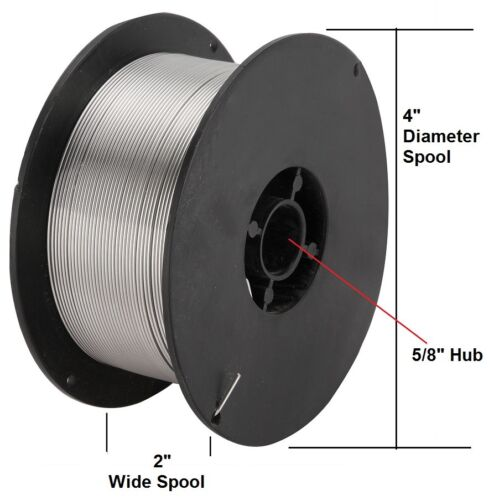 """2 lbs each Roll Stainless Steel MIG Welding Wire ER308L Mig 308L .035/"""" 2 Rolls"""