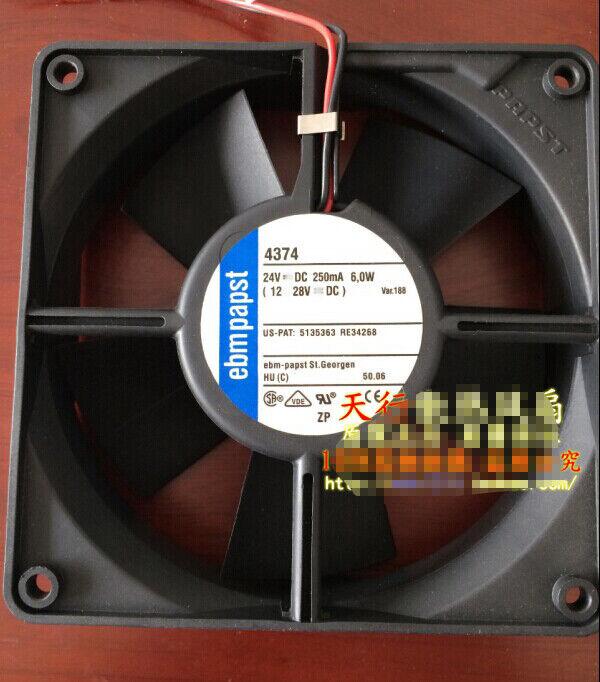 1pcs  Ebmpapst 4374 24V 250MA 6.0W 12012032mm high-end equipment fan